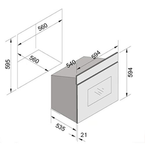 תנור בנוי 67 ליטר מוטי  דגם TH-610 מבית SOL