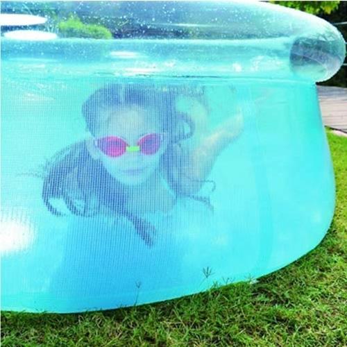 בריכת שחיה שקופה לילדים עם שפה מתנפחת