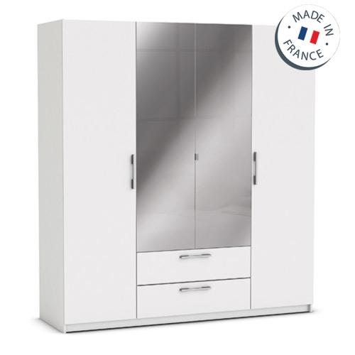 ארון ענק 4 דלתות כולל מראות ומגירות דגם יופיטר