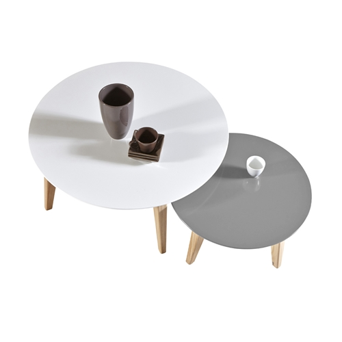זוג שולחנות סלון בעיצוב מודרני תוצרת צרפת