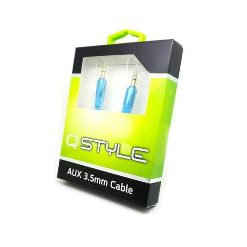 כבל AUX סטריאפוני איכותי QSTYLE בעל חיבור 3.5 מו