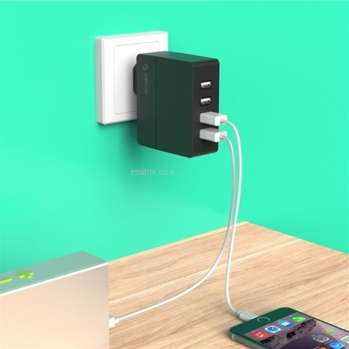 מטען איכותי וחזק לבית או למשרד 4 כניסות USB