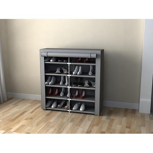 ארונית אחסון לנעליים כפולה 10 מדפי אחסון