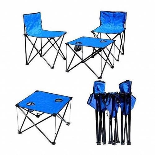 סט שולחן עם 4 כסאות קמפינג מתקפלים, ותיק נשיאה