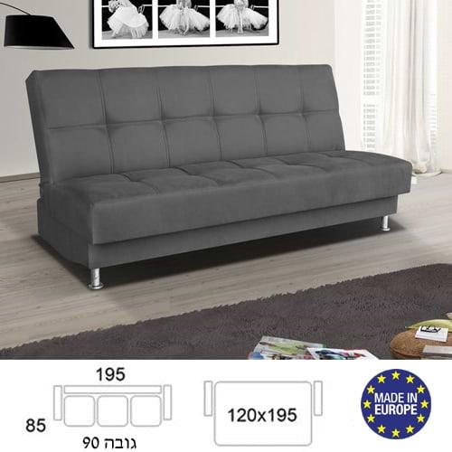 ספה מעוצבת נפתחת למיטה זוגית HOME DECOR דגם מיכל