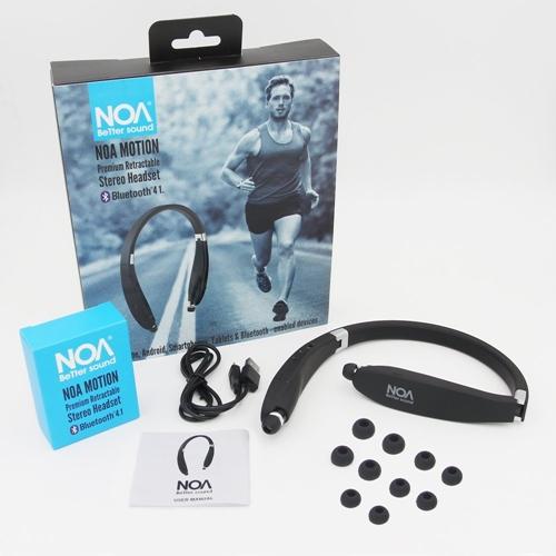 אוזניות בלוטוס ספורט סטריאופוניות NOA MOTION