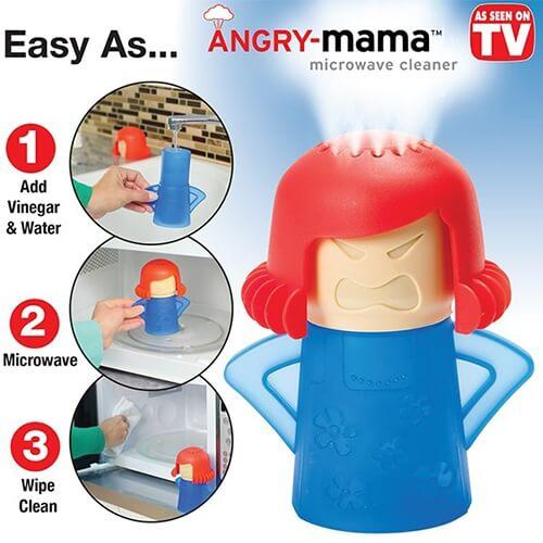 אדי קיטור לניקוי מן המיקרוגל דגם angry mama