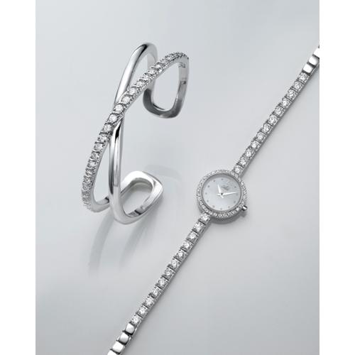 שעון יד לאישה מבית ADI כולל צמיד משובץ אבני חן
