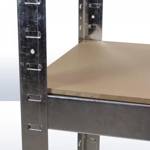 מדפי עץ-MDF בשילוב מתכת מגולוונת