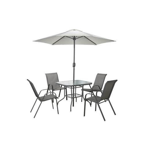 שולחן מתכת עם 4 כסאות דגם Tuscany