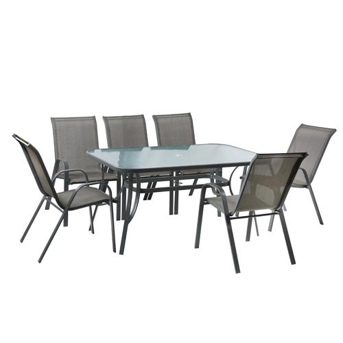 סט פינת אוכל מפואר שולחן עם 6 כסאות לגינה Torino