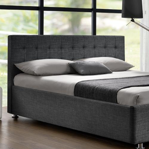 מיטה זוגית מרופדת בד HOME DECOR
