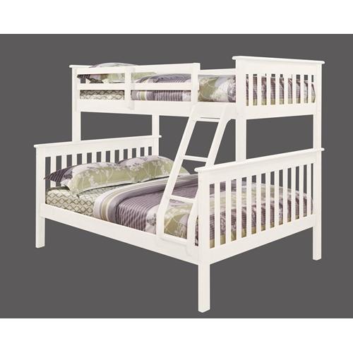 מיטת קומותיים מעץ מלא כולל מזרנים
