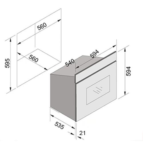 תנור בנוי מולטיסיסטם בעל 9 תוכניות