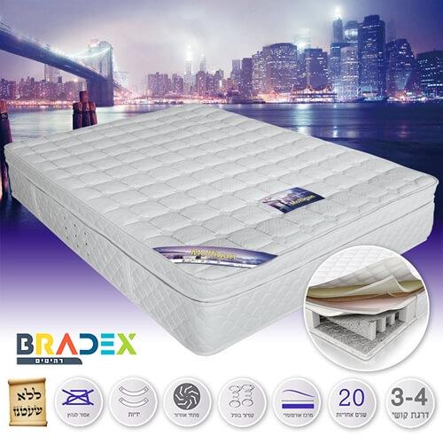 מיטה זוגית מעץ מלא BALENO מבית BRADEX