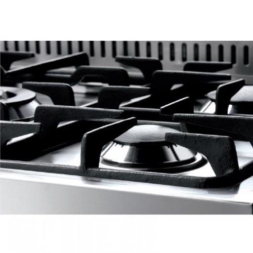 """תנור משולב כיריים גז רחב 90 ס""""מ צבע בורדו"""