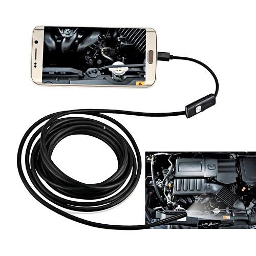 אנדוסקופ מצלמת נחש באורך 2 מטרים מוגן מים!