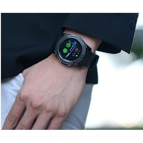 שעון יד חכם עגול ויוקרתי משולב טלפון מובנה