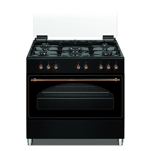 """תנור אפיה כפרי משולב רחב 90 ס""""מ 9 תכניות Normande"""