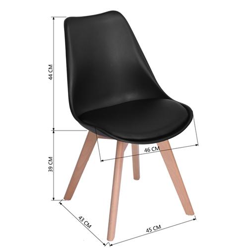 זוג כסאות לפינת אוכל פרנקפורט מבית HOMAX