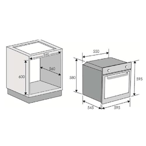 תנור אפייה 70 ליטר טורבו RFS-1151IN מתצוגה בחיסול!