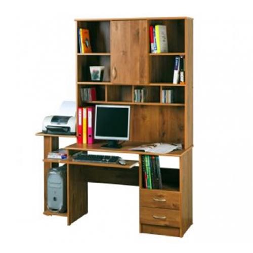 שולחן מחשב מהודר עם כוננית לספרים