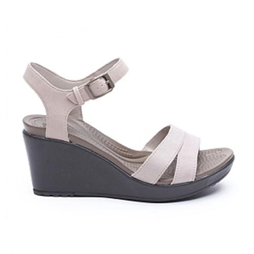 סנדלי פלטפורמה נשים Crocs קרוקס דגם Leigh II Ankle Strap ...