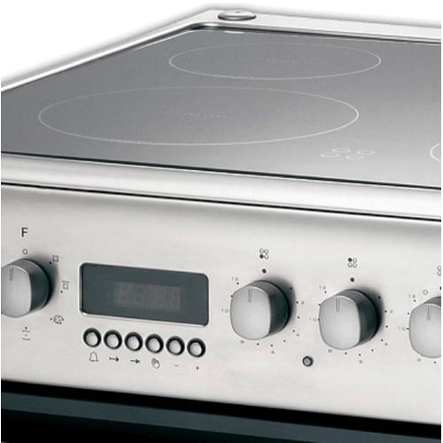 תנור משולב CANDY נירוסטה או לבן עם כיריים קרמיות