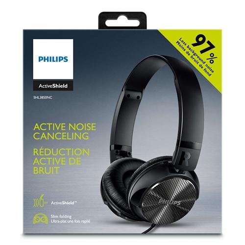 אוזניות איכותיות בסגנון DJ עם מסנן רעשים אקטיבי מבית Philips