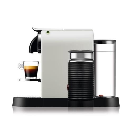 מכונת קפה Nespresso דגם סיטיז אנד מילק בצבע לבן