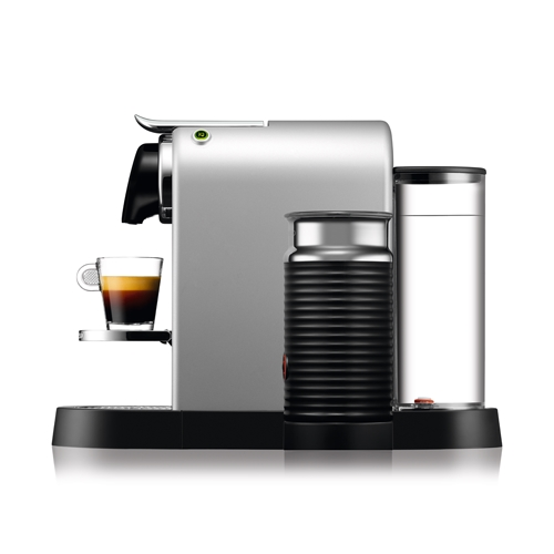 מכונת קפה Nespresso דגם סיטיז אנד מילק בצבע כסוף