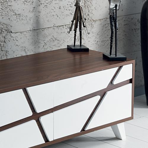 סט מזנון ושולחן בגימור מודרני HOME DECOR