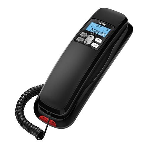 טלפון שולחני עם לחצנים גדולים וצג אחורי ALCOM