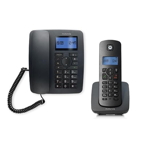טלפון שולחני מעוצב עם שלוחה אלחוטית דיגיטלית