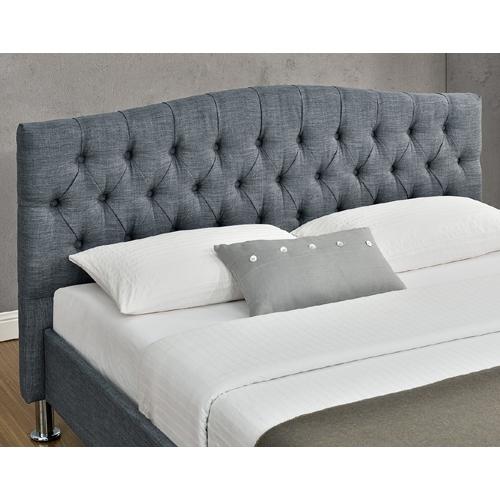 מיטה זוגית מעוצבת בריפוד בד HOME DECOR דגם לימור