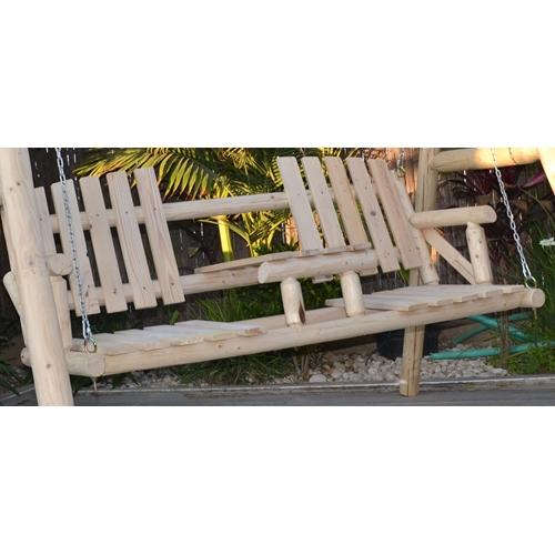 ספסל נדנדה כפרי במראה כפרי ומרשים