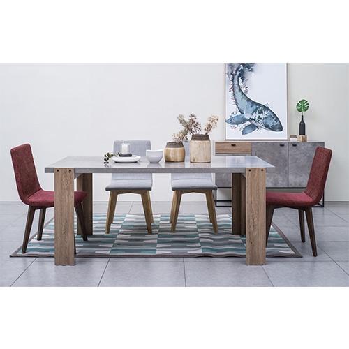 שולחן פינת אוכל מלבני מעוצב בגוון בטון