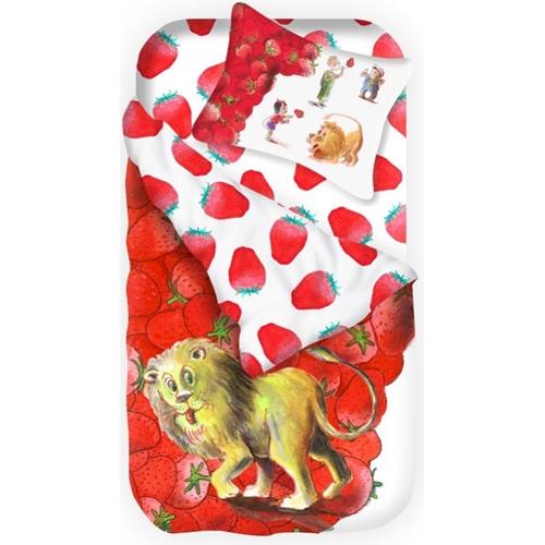 סט מצעים מהספרים - האריה שאהב תות או תירס חם