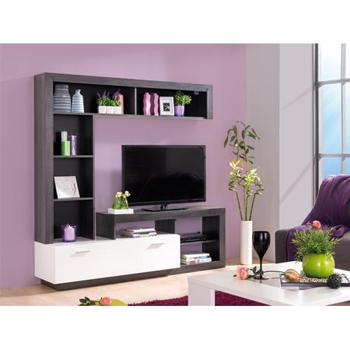 מזנון מודרני לסלון בצבע וונגה ולבן מבית SIRS