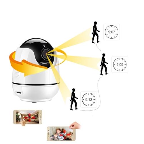 מצלמת IP אלחוטית ממונעת השולחת התראות לנייד