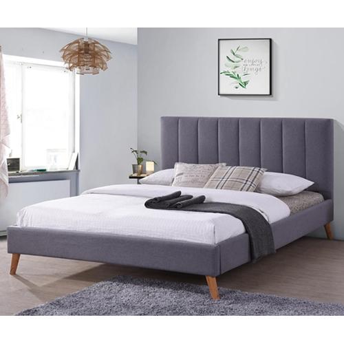 מיטה זוגית מרופדת בד מבית HOME DECOR
