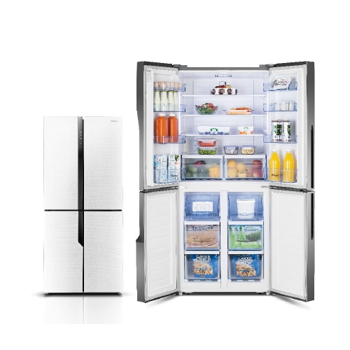 מקרר 427 ליטר 4 דלתות זכוכית לבנה דגם RQ56WC4S/WG