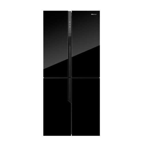 מקרר 4 דלתות 427 ל' זכוכית שחורה Hisense RQ56WC4S