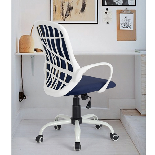 כיסא היי-טק מעוצב דגם יאנג קטיפה כחולה מבית Homax