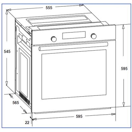 תנור דיגיטלי בנוי נירוסטה נפח 78 ליטר דגם OV-V-785