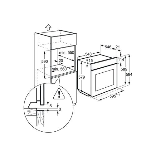 תנור רב-תכליתי נירוסטה BEE255632M AEG