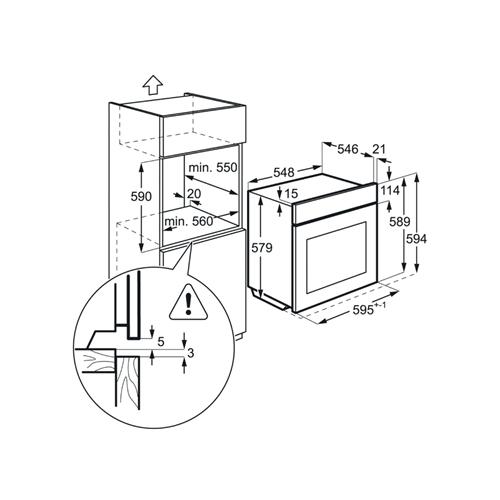 תנור רב-תכליתי טורבו אקטיבי 71 ליטר AEG BEE264232W