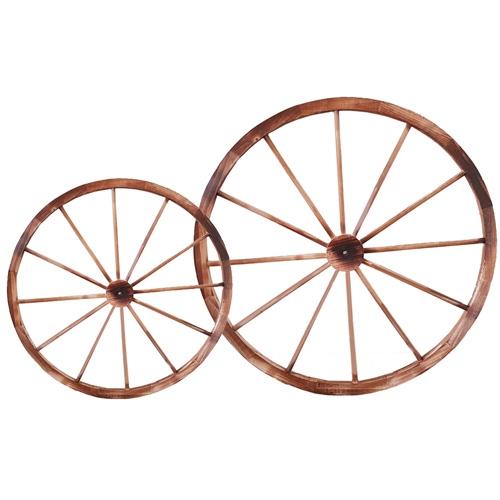 גלגל נוי מעץ לעיצוב הגינה –  2 מידות לבחירה!