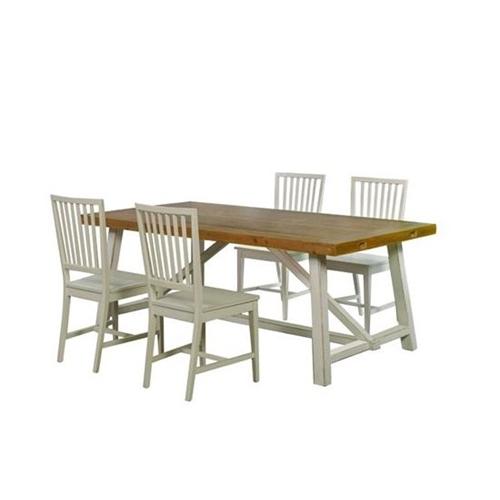 פינת אוכל שולחן נפתח ו- 4 כסאות בעיצוב כפרי ביתילי