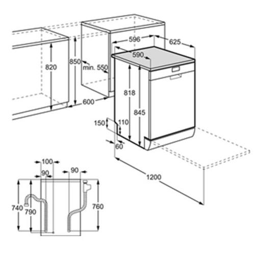 מדיח כלים רחב 13 מער' כלים AirDry דגם FFB52600ZM